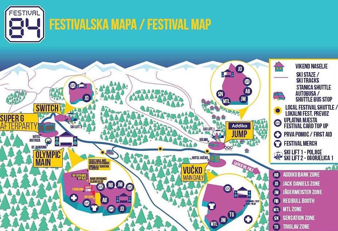 Mapa Festivala 84